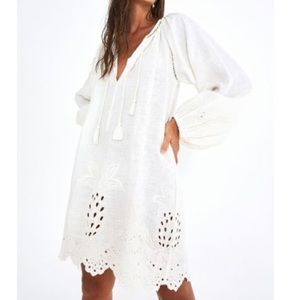 FARM Rio Womens White Harmonia Long Sleeve Dress